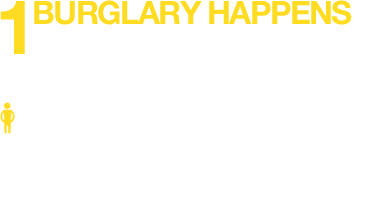 1 burglary happens for every 200 people in England every 12 months