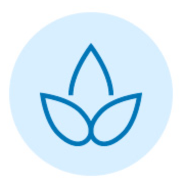 Blue flower graphic icon