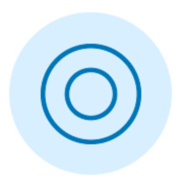 Blue double circle graphic icon