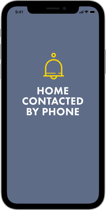 Private security phone contact illustration