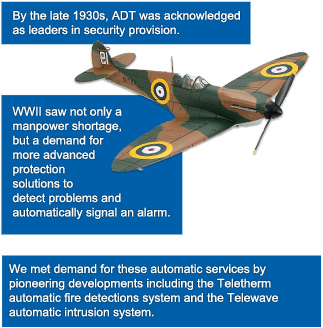 By the late 1930s, ADT was acknowledged as leaders in security provision