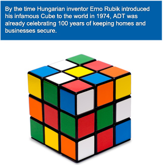 When ADT was celebrating 100 years of keeping homes secure, Erno Rubik introduced his Cube