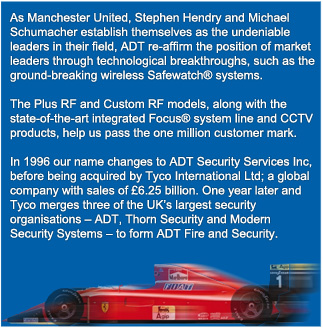 In 1996 the name changes to ADT Security Services Inc, before being acquired by Tyco International Ltd