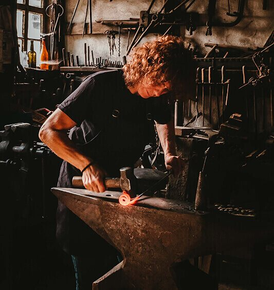 A woman working in her workshop